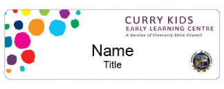 Curry Kids name badge