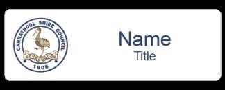 Carrathool Shire name badge
