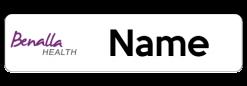 Benalla Health Morrie Evans Wing name badge