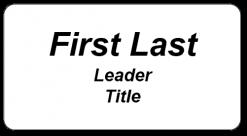 Men's Shed SBD leaders name badge