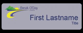 Break O'Day Council name badge