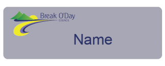 Break O'Day Council name badge - first name only