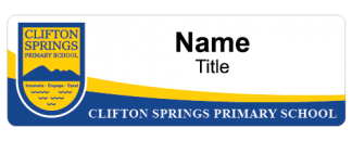 Clifton Spring Primary School name badge