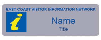 East Coast Visitor Information Network name badge