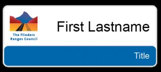 Flinders Ranges Council name & title badge