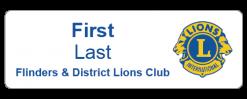 Flinders & District Lions Club name badge