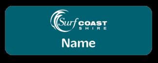 Surf Coast Shire staff name badge