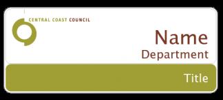 Central Coast Council name badge