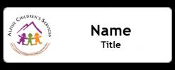 Alpine Children's Services name badge
