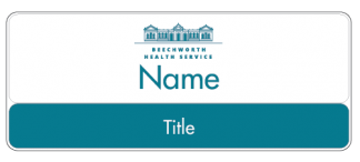 Beechworth Health Service name badge