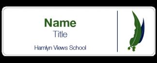 Hamlyn Views School name badge
