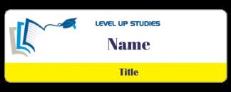 Level Up Studies name badge