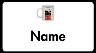 Men's Shed - Main Ridge name badge