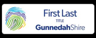 Gunnedah Shire executive name badge