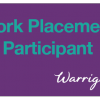 Warrigal Work Placement Participant badge