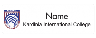 Kardinia International College name badge