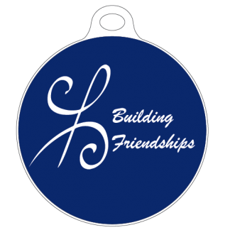Building Friendships bag tag
