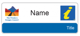 Flinders Ranges Council Visitor Information name & title badge