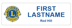 Red Hill Lions Club name badge